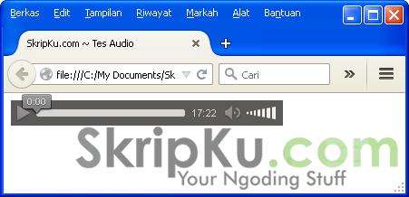 Screenshot jika dibuka di Firefox