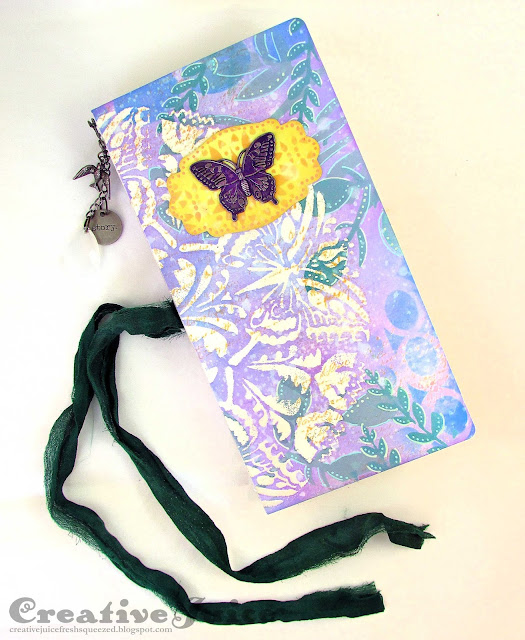 Butterfly Journal by Lisa Hoel with StencilGirl® Stencils