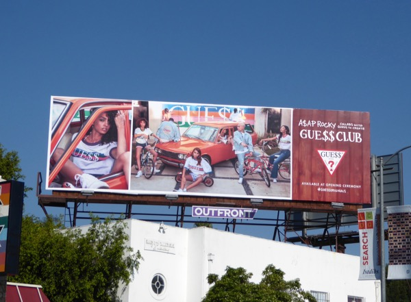 A$AP Rocky Guess Club Spring 2017 billboard