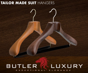 Wood Suit Hangers By Butler Luxury