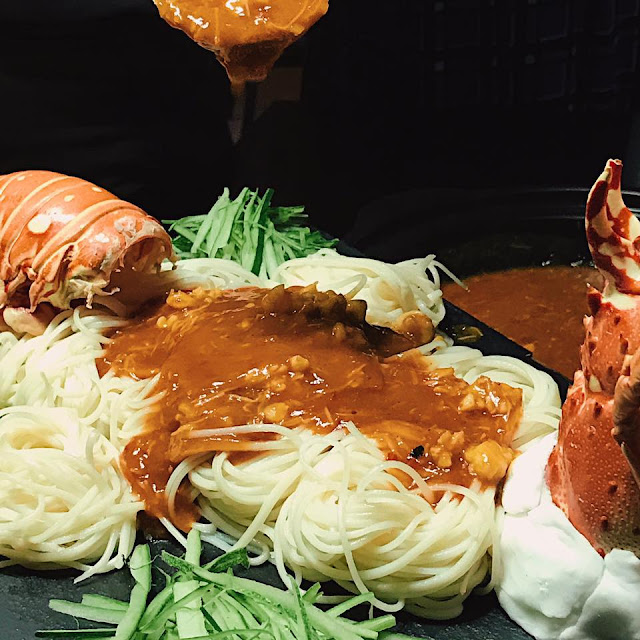 Braised Longevity Noodles with Lobster Meat