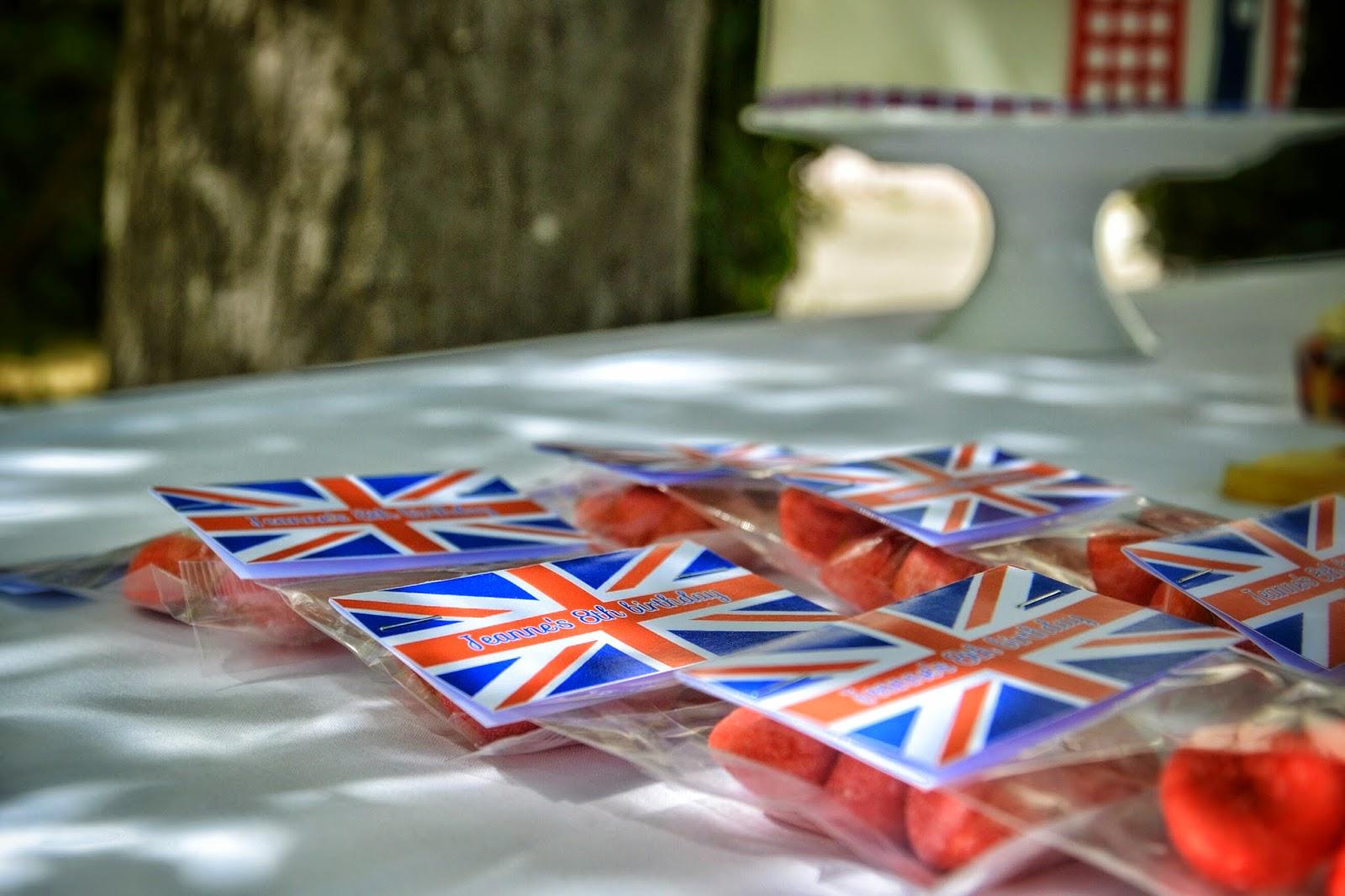 sachet de bonbons avec drapeau de londres