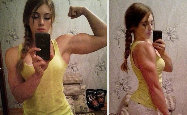 HD Photos & Wallpapers of 18-Year-Old Russian 'Muscle Barbie' Julia Vins Shows Off Her Doll Face and Bodybuilding Physique