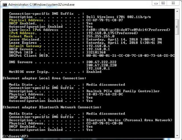 Tìm hiểu về địa chỉ IPv4 (Phân lớp IP, Subnet Mask, Địa chỉ MAC)