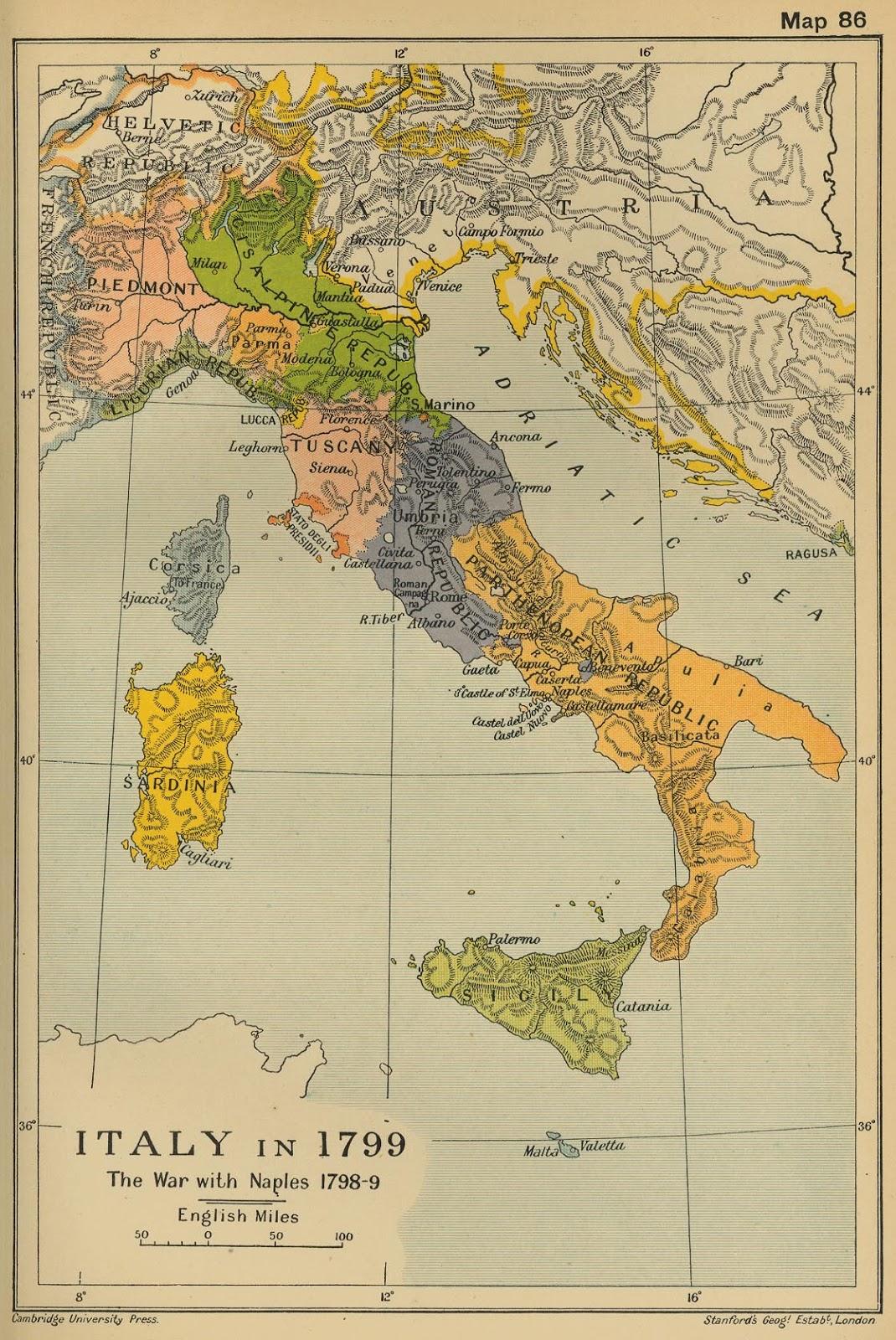 Italy in 1799