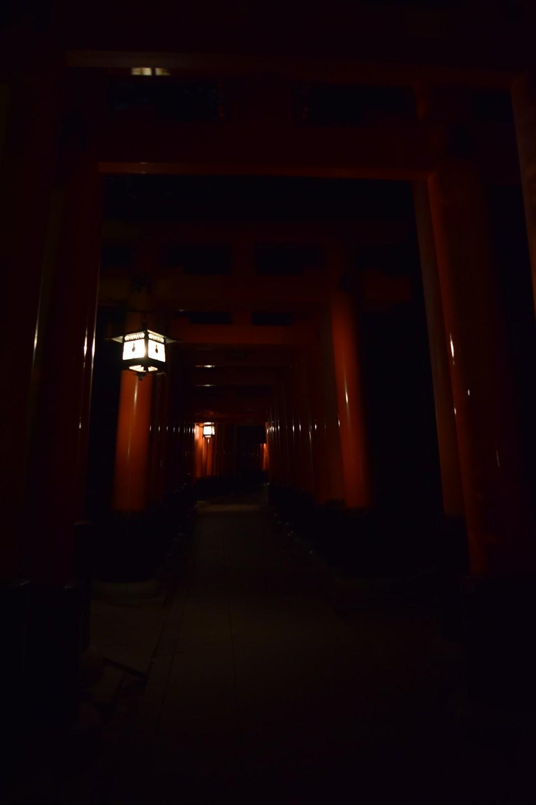 Fushimi Inari Taisha after dark
