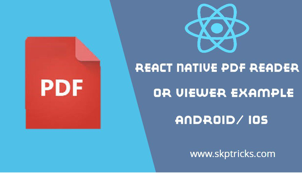 React Native PDF Reader or Viewer Example | SKPTRICKS