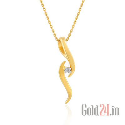 Gili Gold Pendant with Diamond