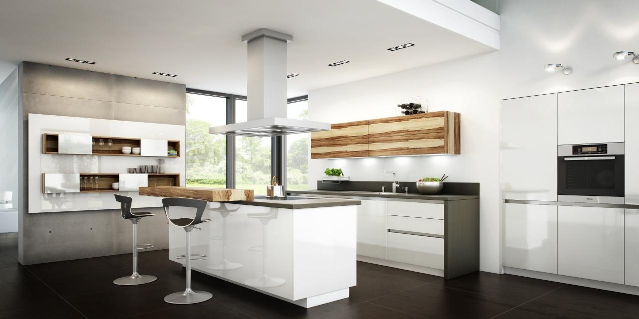 Un toque vital en la cocina blanca  Cocinas con estilo