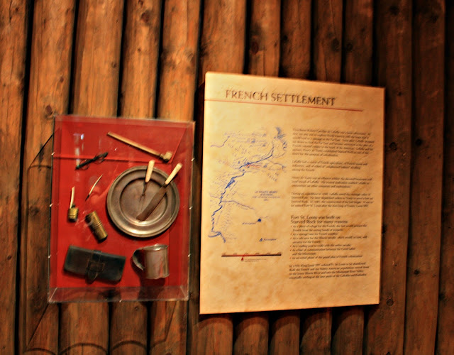 Artifacts from French explorers at the Starved Rock Visitor's Center