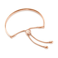 "This week I'm comparing two very similar bracelets with two very different prices. One of these bracelets is from Estella Bartlett, and the other is from designer Monica Vinader.   This bracelet is the one from Monica Vinader; it's from her Fiji collection and part of her iconic friendship bracelets collection. This bracelet is made of 18ct rose gold vermeil, and the bar is curved and smooth to sit neatly along your wrist. You can personalise these bracelets with an engraving on the front of the bar and even on the toggle.   An inspiring message adorns this gorgeous Rose Gold Plated 'Live As You Dream'Bangle; the engraved message gives this piece a thoughtful personal touch, ideal for gifting to yourself, or someone special! It's made of rose gold plated which usually means plated over brass.  I feel that Monica Vinader did design the original bracelet and this is not the first time I've seen a very similar bracelet. I like that you can engrave your message on the bangle rather than having the ""Live as you dream"" engraving. However, with a price difference of £166 between these two bracelets, I think the Estella Bartlett is perfect if you want to get the look and like to change your jewellery often."