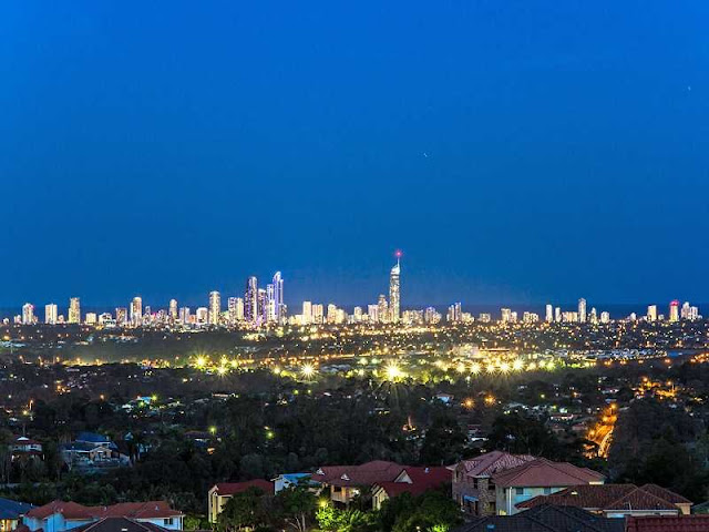 Picture of the Gold Coast skyline from the house