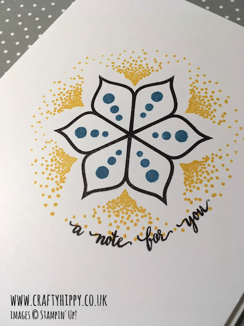 How to make a Crushed Curry Mandala Art Card using the Eastern Beauty Stamp Set by Stampin' Up!