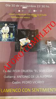 Félix Crujera El Sevillano triunfa con Flamenco con sentimiento