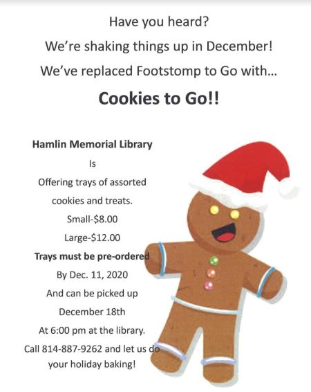 Hamlin Memorial Library Cookies to go