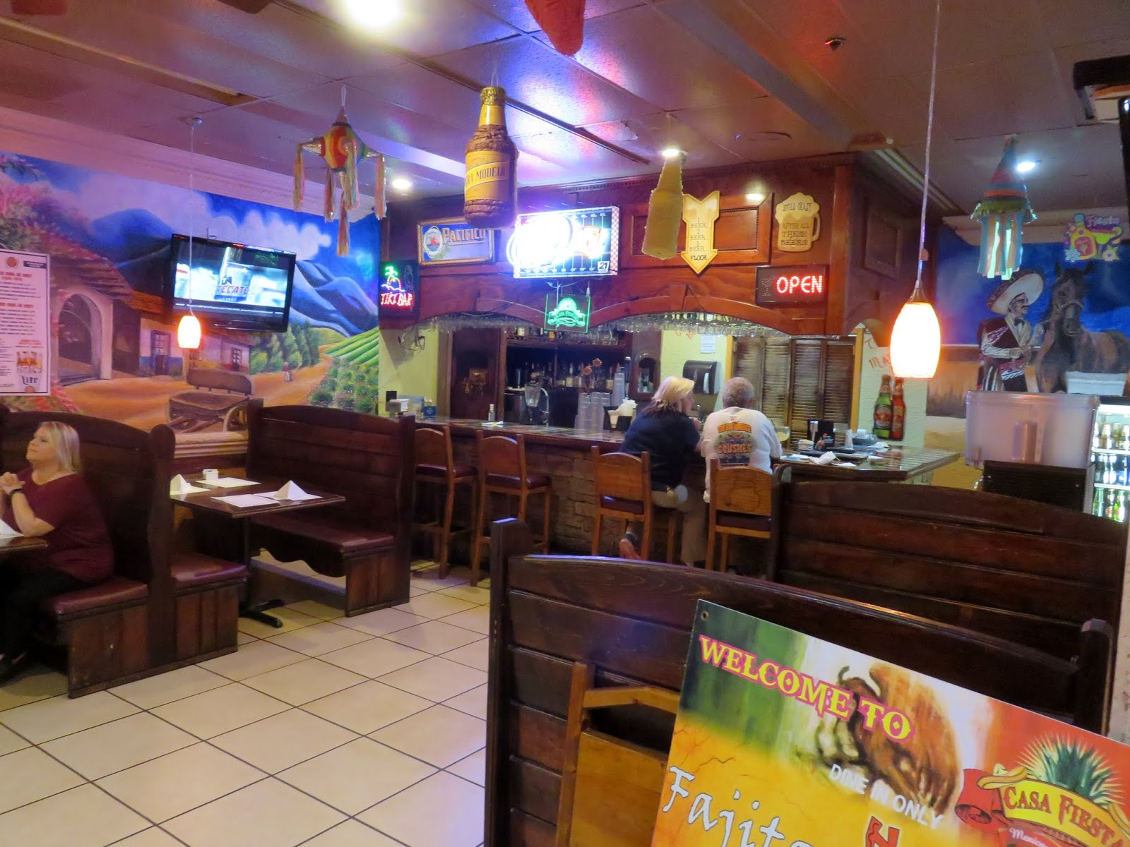 The Other Side Of Casa Fiesta Has A Smaller Dining Area And Small Bar As With Most Mexican Restaurants Décor Is Colorful Upbeat