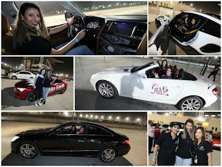سعوديات يشاركن بسياراتهنّ في حلبة سباقات البحرين