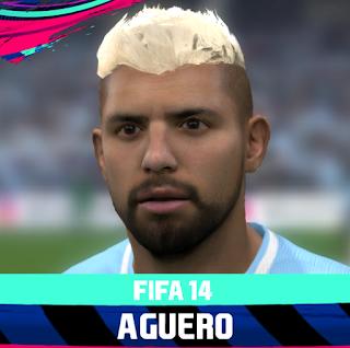 FIFA 14 Faces Sergio Agüero by Rale