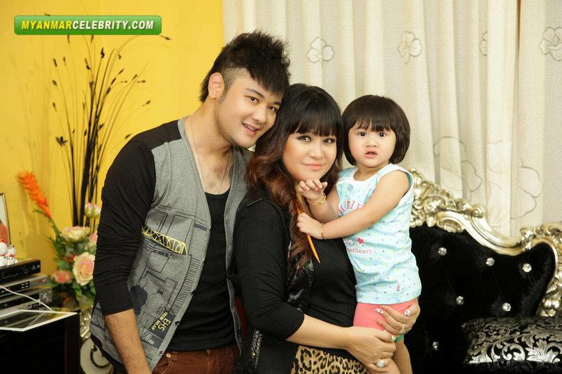 Celebrity Family: Htet Htet, Zu Myat Htet & Sit Lon Wadi Htet | Myanmar Celebrity Couple Photos!