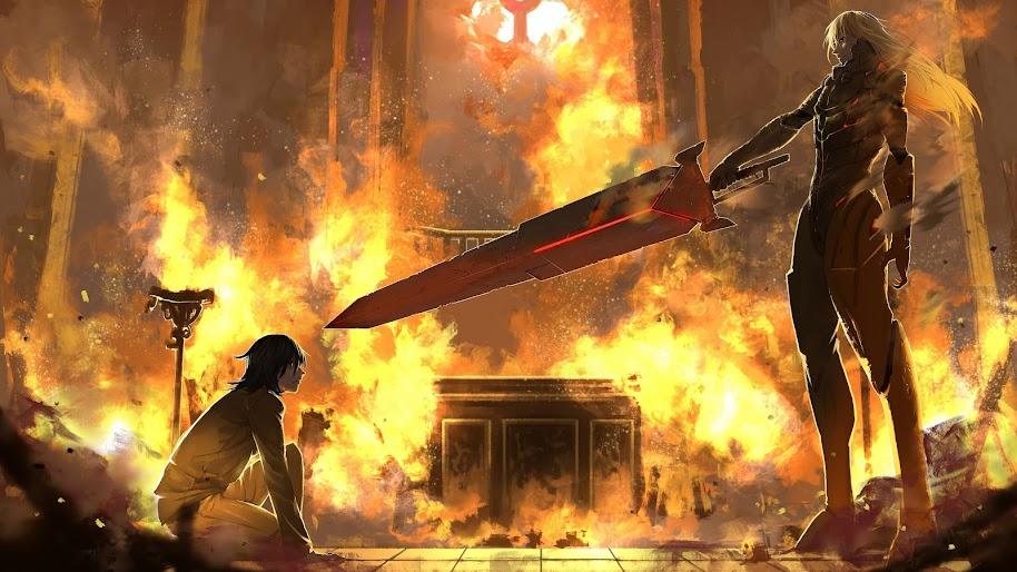 Anime, Fantasy, Battle, Sword, 4K, #161