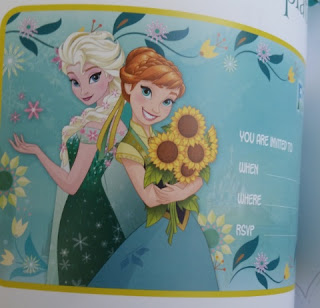 DISNEY FROZEN FEVER PARTY BOOK sample invite