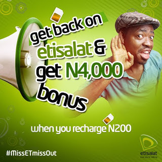 Etisalat Ramadan Bonus Offer: Recharge N200 And Get N4000