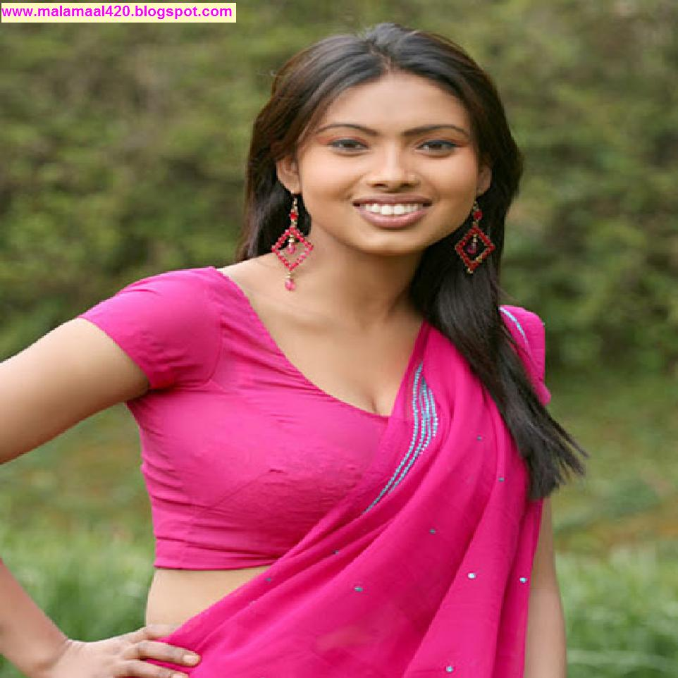 Srijana Mallu Aunty Hot In Pink Blouse Hot Pictures  Hot -6566