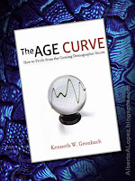 "Beauty shot picture of book by Kenneth Gronbach, ""The Age Curve"", ""How to Profit from the Coming Demographic Storm"""