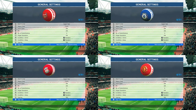 PES 2017 Fantasy Ball pack 4 Teams