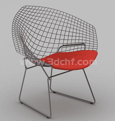 wiremesh steel chair 3d model