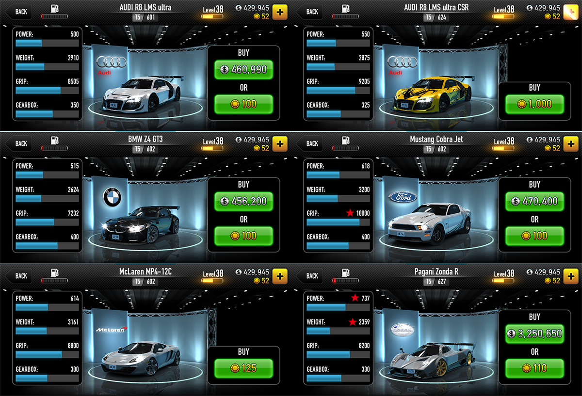 Audi r8 lms ultra csr racing 15