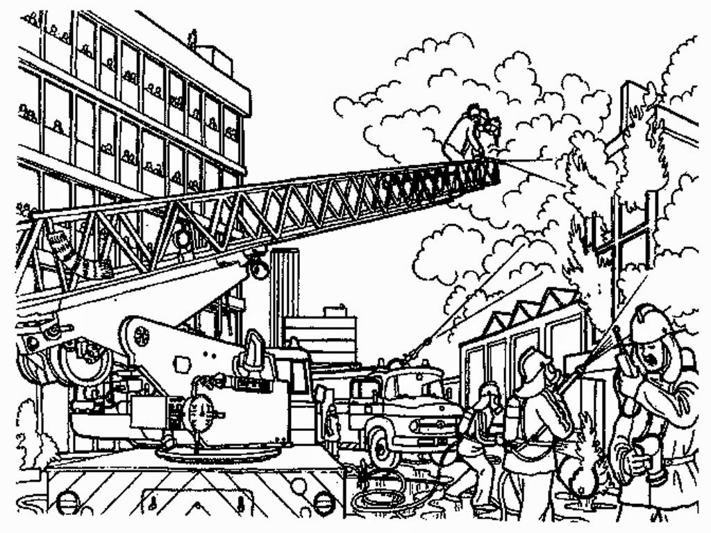 Fire Fighter Fred Coloring Pages