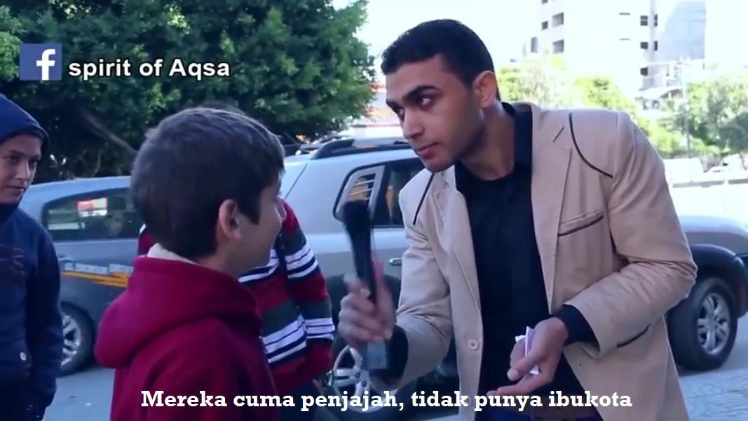Jawaban menakjubkan Bocah Palestina