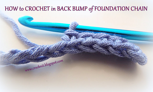 how to crochet, crochet in back bump, free crochet patterns,