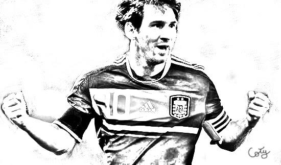Coty Disseny Gràfic: Photoshop cs5. Dibujo. Messi