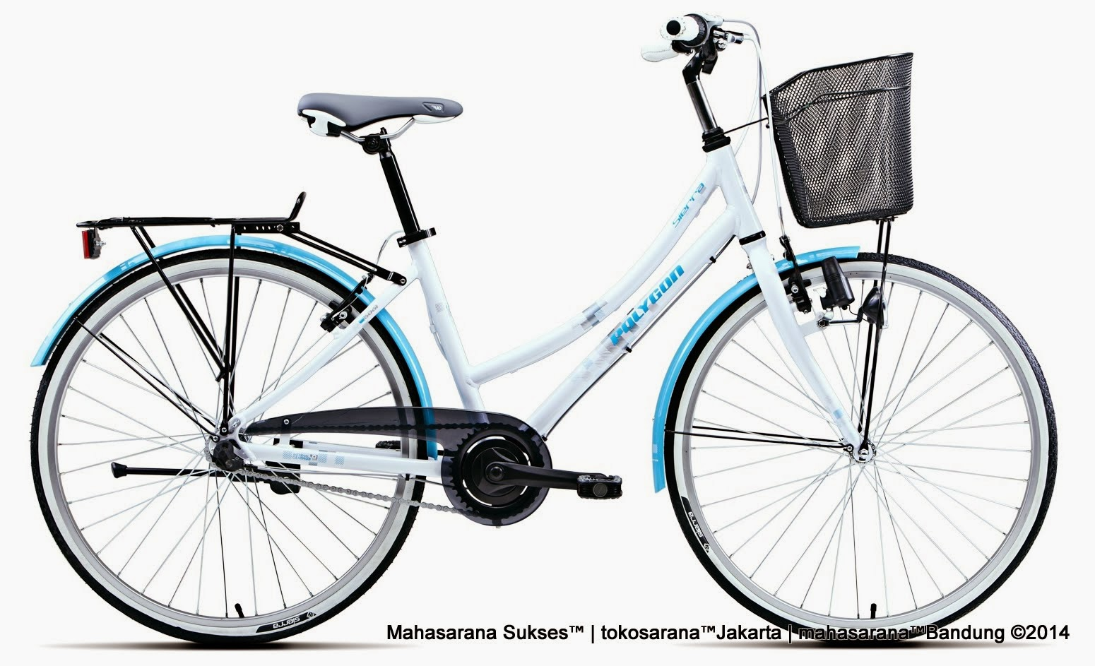 City Bike Polygon Sierra i3 Rangka Aloi 3 Speed Internal Gear Hub 26 Inci