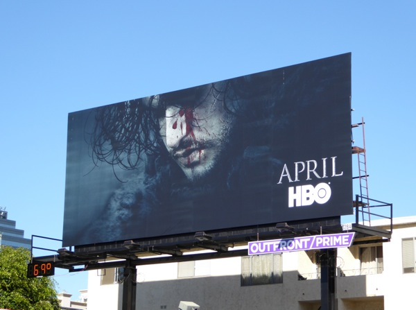 Jon Snow Game of Thrones season 6 billboard