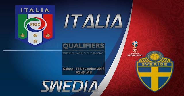 Prediksi Pertandingan Italia vs Swedia 14 November 2017