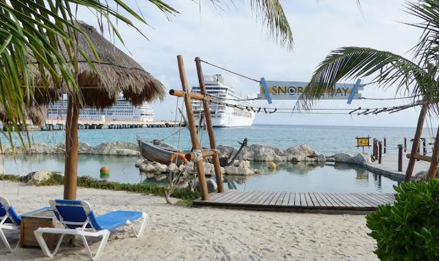 Kreuzfahrthafen Costa Maya - Strand und Schnorchelmöglichkeit