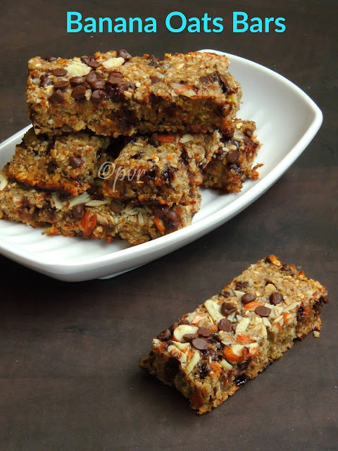 Banana oats bars, Banana Chocolate Chips Oats Bars