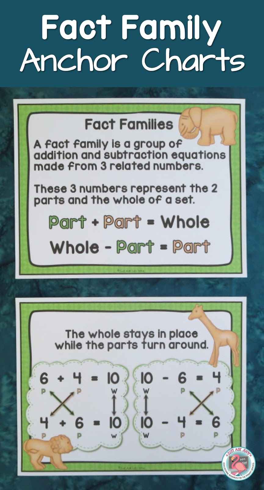 How To Teach Fact Families With Animal Crackers Freebie