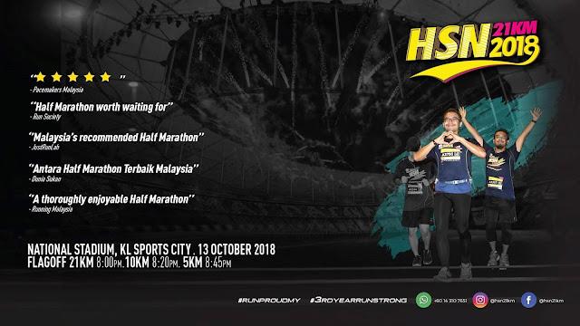 Hari Sukan Negara Run (HSN21KM) 2018