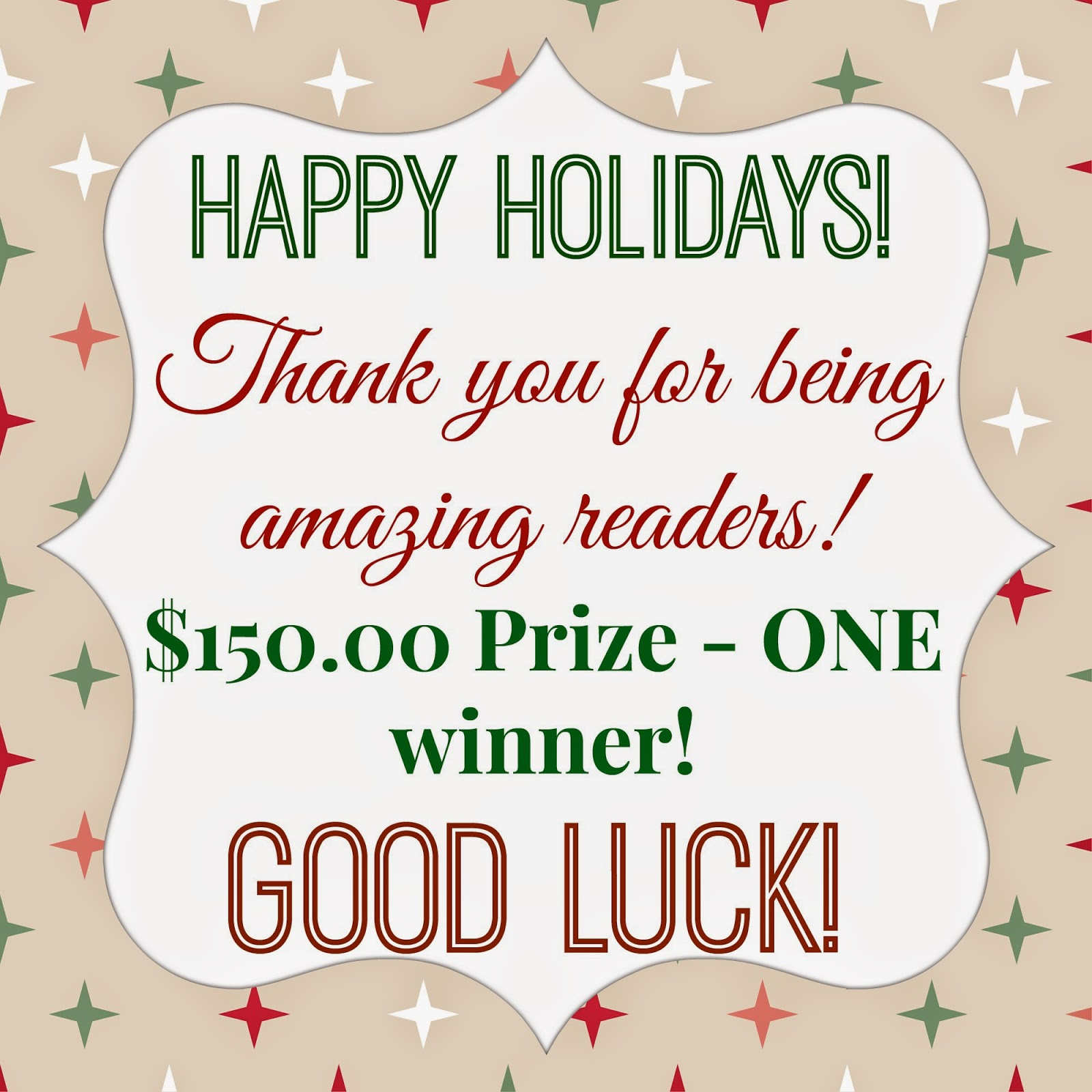 Happy Holidays Giveaway