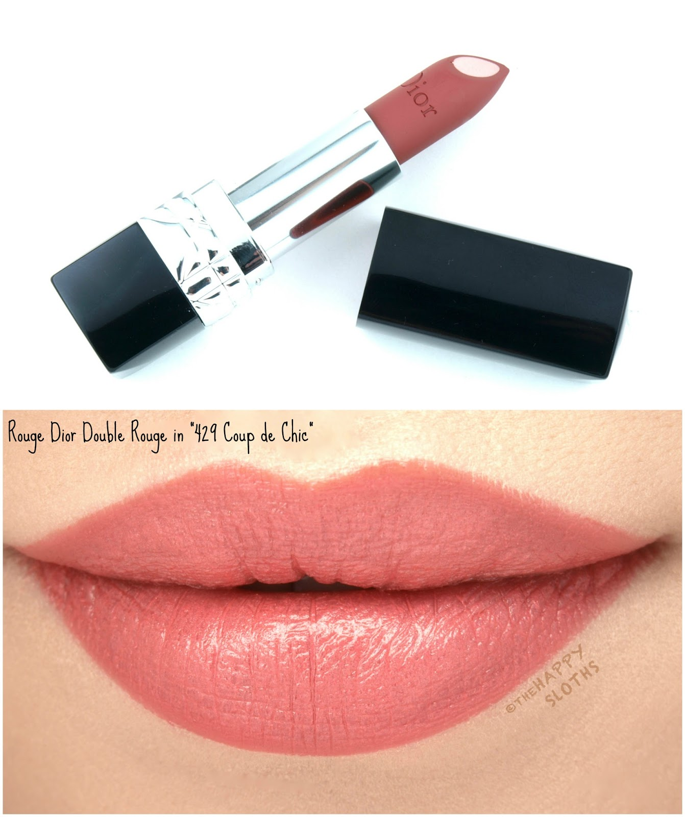 "Dior Rouge Dior Double Rouge Lipstick in ""429 Coup de Chic"": Review and Swatches"