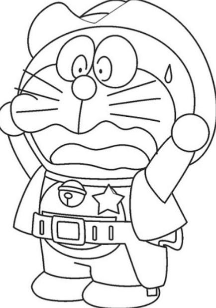 Download 440 Koleksi Gambar Doraemon Hitam Putih Hd HD Lucu