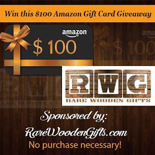 Enter to win a $100 Amazon gift card from Rare Wooden Gifts. Ends 12/31
