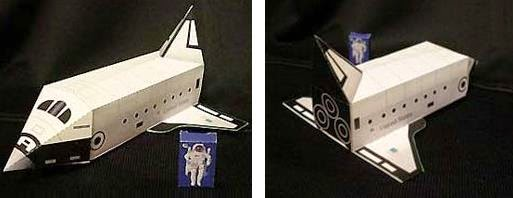 PAPERMAU: Easy-To-Build Space Shuttle Paper Model For Kids