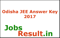 Odisha JEE Answer Key 2017