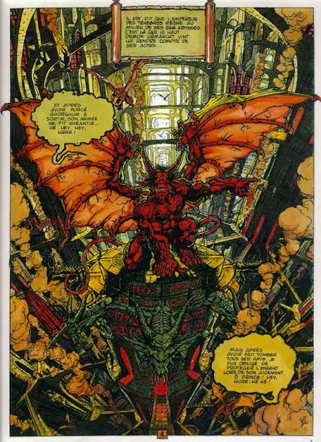 page de Les Chroniques de la lune noire T2 le vent des dragons de Ledroit et Froideval chez Zenda
