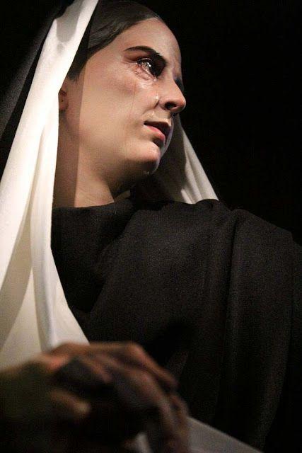 La Virgen Maria con San Juan Evangelista antes de su ascension a los cielos